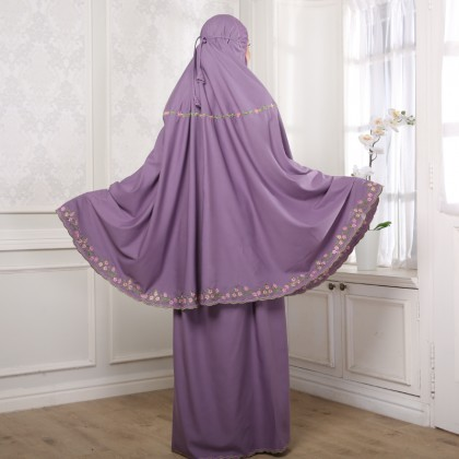 Telekung Cotton - Purple