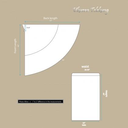 Telekung Sulam Lux - Milky White