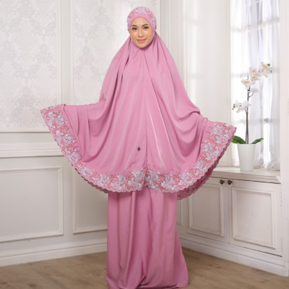 Second Chance Item Telekung Floral - Rose