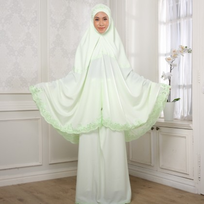 Second Chance Item Telekung Lux - Apple Green