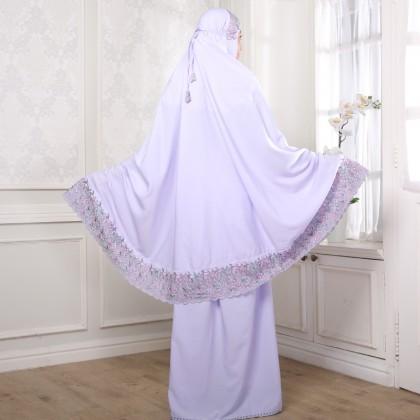 Second Chance Item Telekung Floral - Lavender